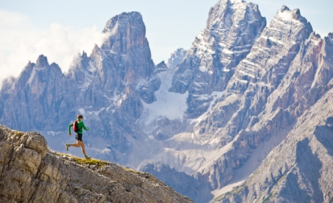 Trail running in the Italian Dolomites